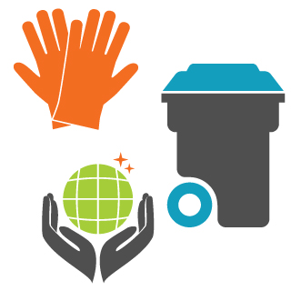 Nettoyage des conteneurs poubelles et de leur local